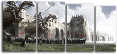 "Модульная картина ""Рыцари перед атакой"""