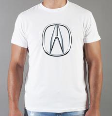 Футболка с принтом Акура (Acura) белая 005