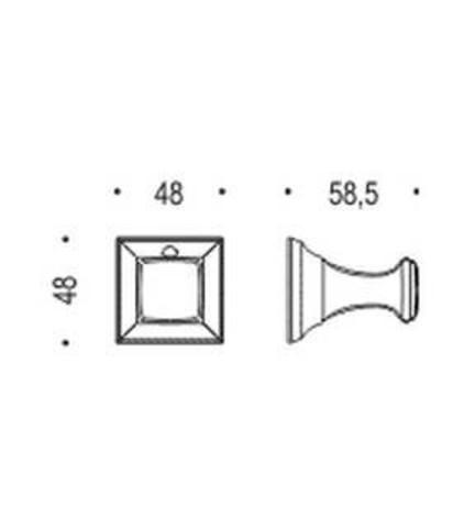 Крючок Colombo Portofino  CD97, хром схема