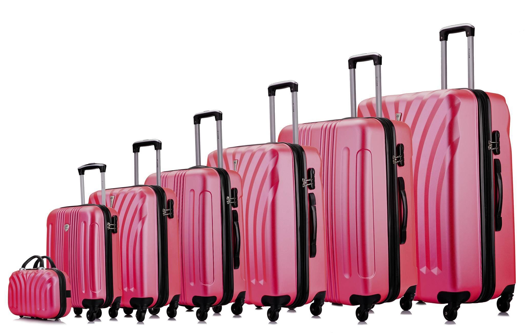 Чемодан с расширением L'case Phuket-28 Розовый (XL)