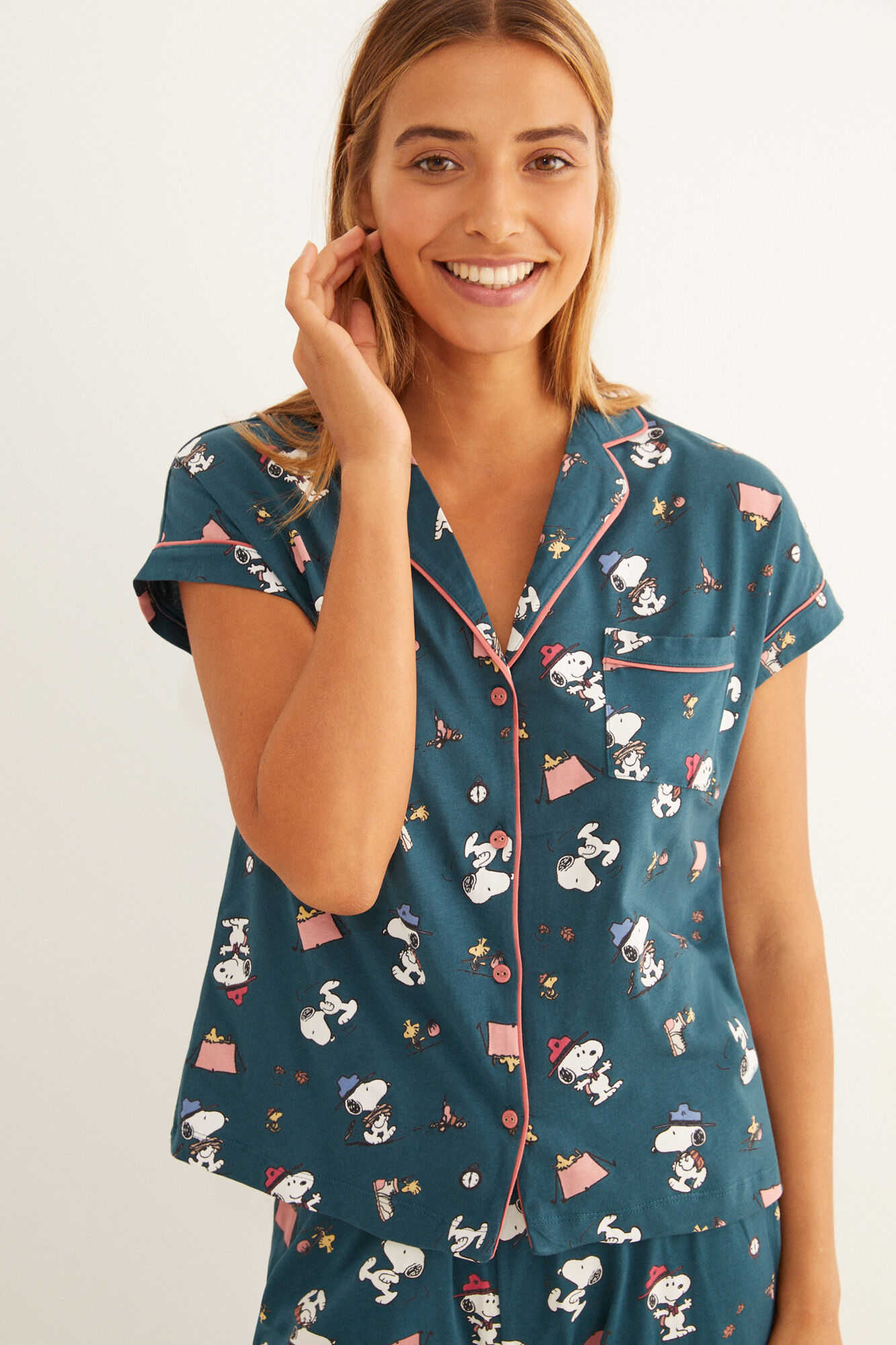 Пижама в рубашечном стиле «Снупи»