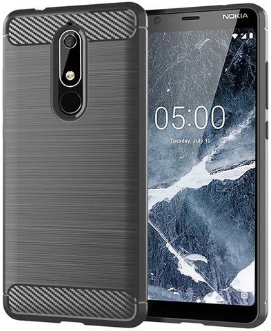 Чехол Nokia 5.1 цвет Gray (серый), серия Carbon, Caseport