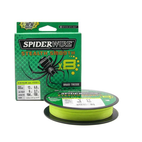 Плетеная леска Spiderwire Stealth Smooth 8 Braid Ярко-желтая 150м 0,07мм 6,0кг