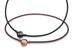 Ожерелье X100 PHITEN RAKUWA NECKLACE METAX PUSH TYPE  (коричневый)