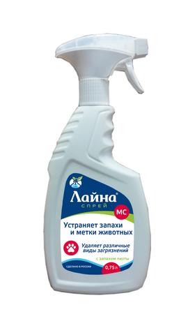 Лайна для животных, дезинфицирующее средство для уборки, спрей,  пихта, 0,75 литра