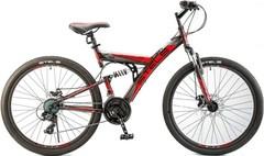 Велосипед STELS Focus MD 21-Sp 26 V010 (2018) Чёрный/красный