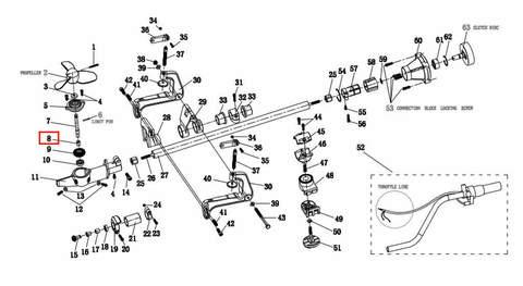 Подшипник гребного вала 10*15*17 для лодочного мотора T2 SEA-PRO