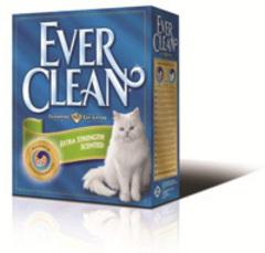 EVER CLEAN Extra Strong Clumping Unscented Наполнитель для кошачьего туалета без ароматизатора (голубая полоса)