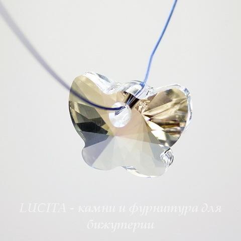 6754 Подвеска Сваровски Бабочка Crystal Moonlight (18 мм)