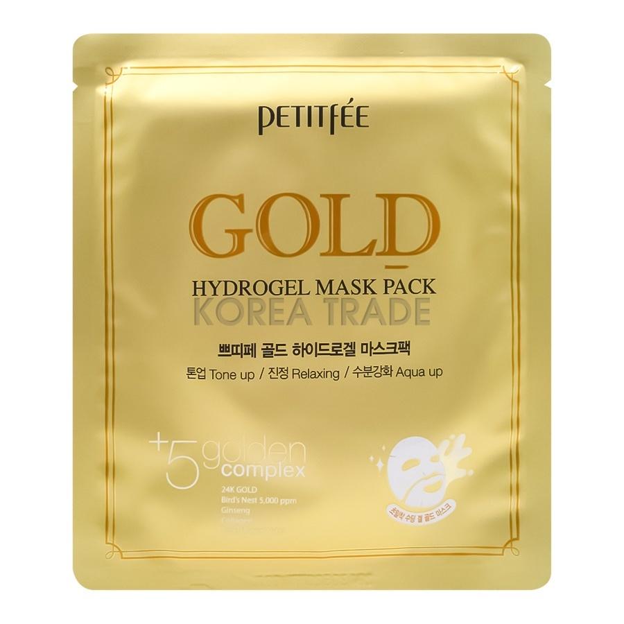 ГИДРОГЕЛЕВАЯ МАСКА ДЛЯ ЛИЦА ЗОЛОТОМ PETITFEE GOLD HYDROGEL MASK PACK
