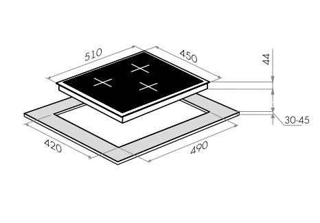 Индукционная варочная панель Maunfeld EVI.453-BK