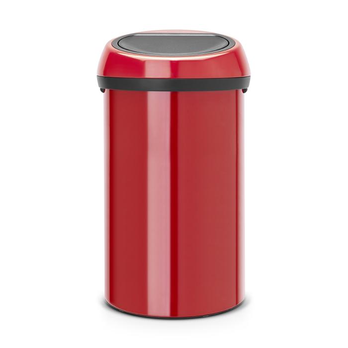 Мусорный бак Touch Bin (60 л), Пламенно-красный, арт. 402487 - фото 1