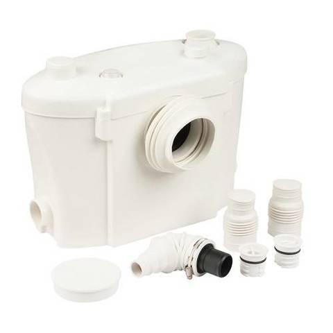 Насос канализационный UNIPUMP SANIVORT 605 M - 0,40 кВт (Hmax 8м, Qmax 100л/мин, 1x230В, кабель 2м)