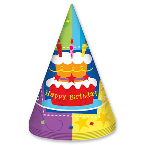 Колпак Торт С Днем Рождения/6шт.(фото 2)