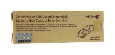 Оригинальный картридж Xerox 106R01602, пурпурный