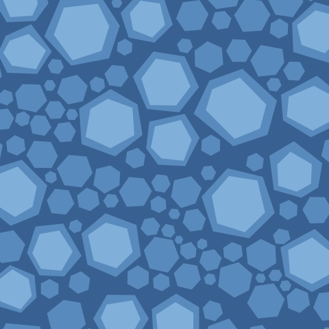 Синие шестиугольники