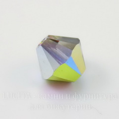 5328 Бусина - биконус Сваровски Crystal Vitrail Medium  4 мм, 10 штук