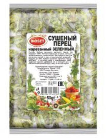 Перец зеленый сушеный  нарезанный 1 кг.