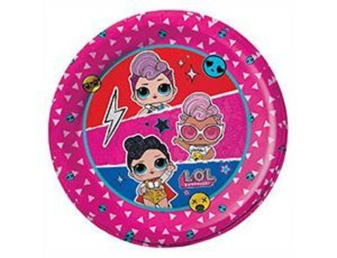 Набор тарелок куклы ЛОЛ диско 18см 6шт