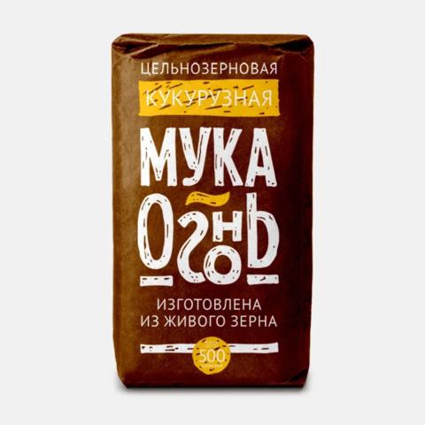 Мука Огонь кукурузная цельносмолотая, 500 гр. (Образ жизни)