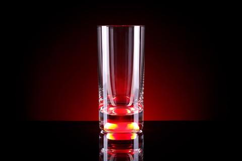 Светящийся бокал для коктейлей GlasShine, красный