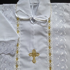 Крестильная рубашка  Линия (золото)