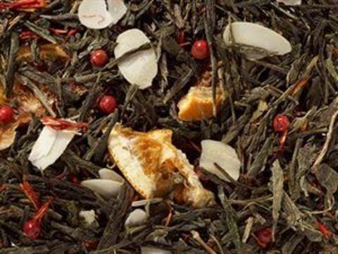 Зеленый чай Сенча Елка (миндаль-апельсин)
