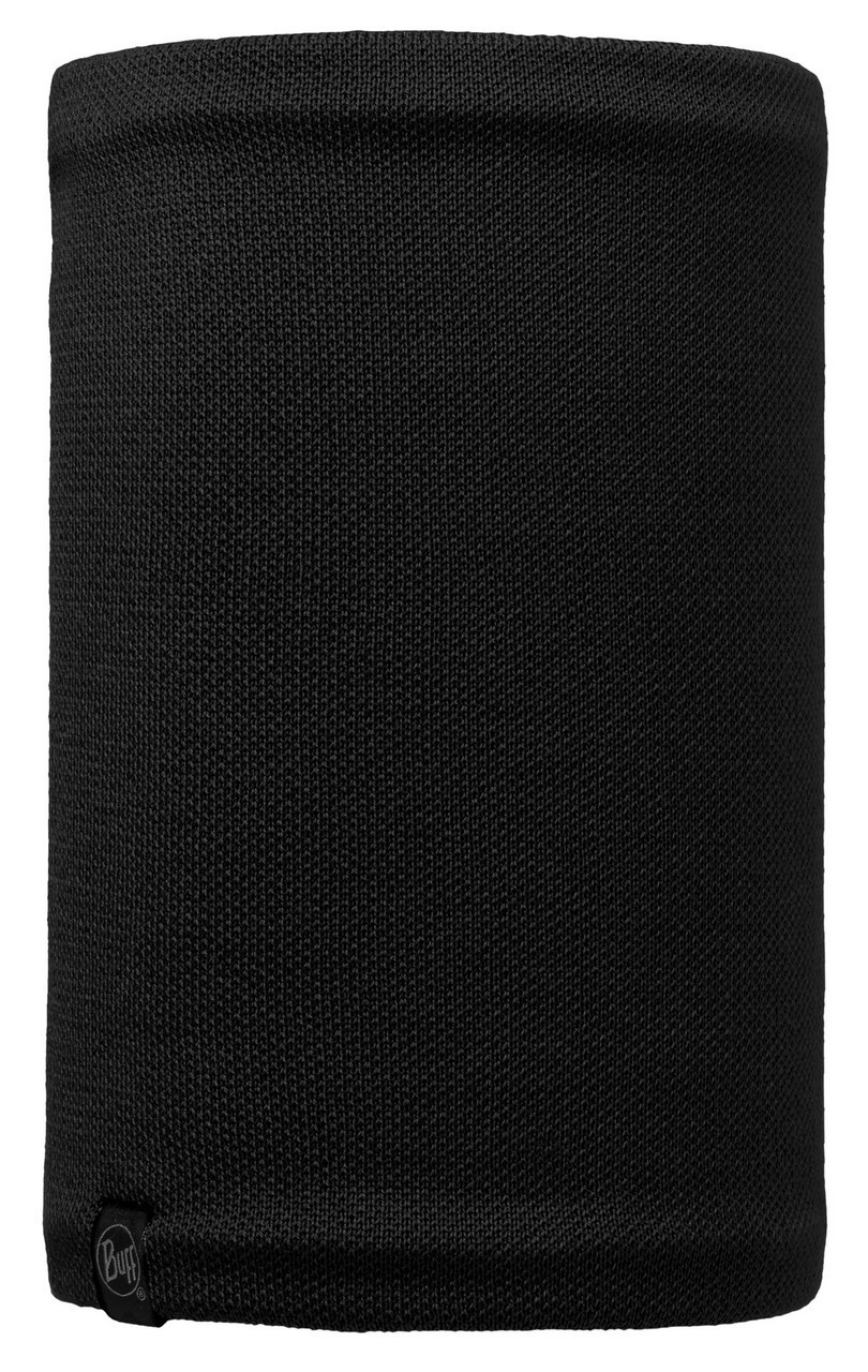 Вязаные шарфы Вязаный шарф-труба с флисовой подкладкой Buff Neo Black 113560.999.10.00.jpg