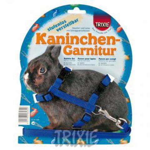 Trixiе 6260 Шлейка д/кролика с поводком 25-44см*10мм*1,2м
