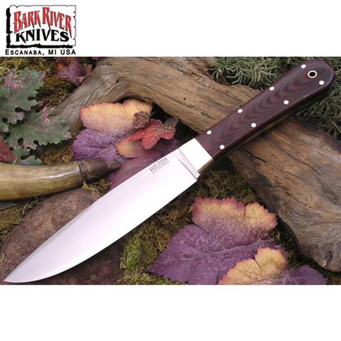 Нож Bark River модель Rogue Maroon Linen Micarta