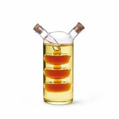 6539 FISSMAN Бутылочка 70/240мл для масла и уксуса 2-в-1 (стекло)