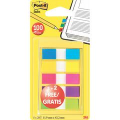 Клейкие закладки пласт. 5цв.по 20л. (5 по цене 3) неон Post-it ?683-5CBX