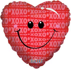 Фольгированный шар Любовь Улыбка 18