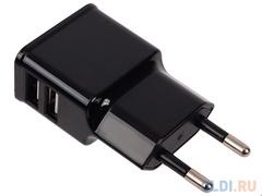 СЗУ LP 2,1A компакт 2 USB выхода (черный)