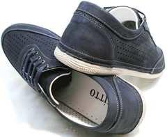 Летние спортивные туфли мужские Vitto Men Shoes 3560 Navy Blue.