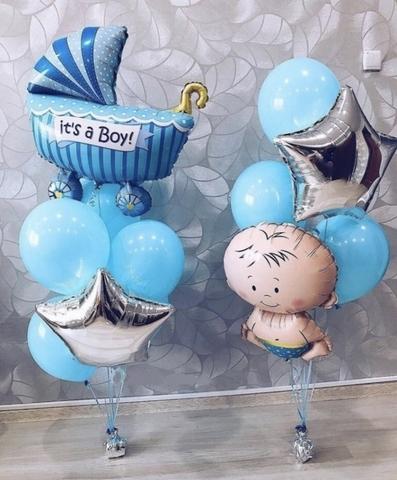 Набор из шаров на выписку для мальчика №5