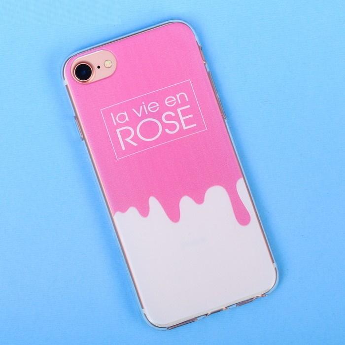 Чехол для телефона iPhone 6, 6S, 7 с рельефным нанесением la vie en rose фото