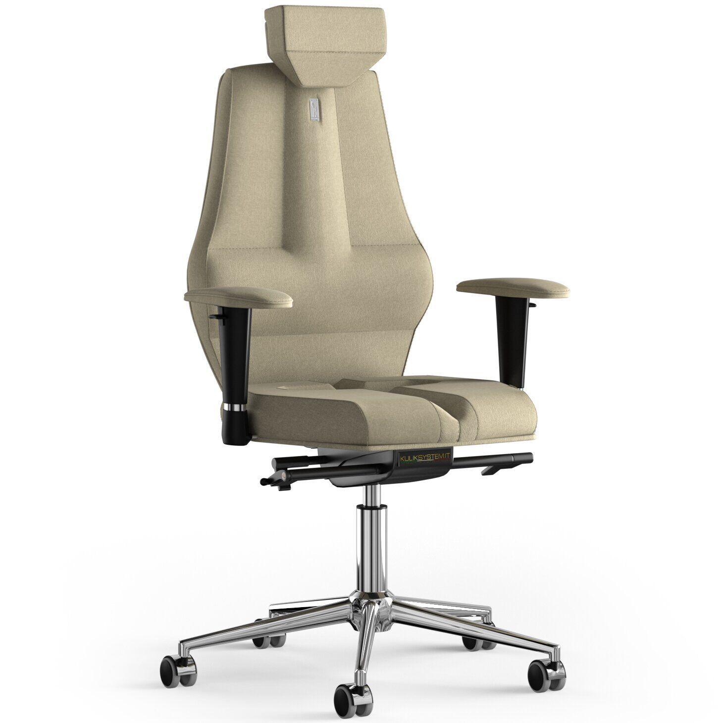 Кресло KULIK SYSTEM NANO Ткань с подголовником без строчки