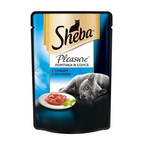 Sheba Pleasure пауч для кошек ломтики в соусе (тунец и лосось) 85 г