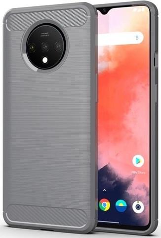 Чехол OnePlus 7T цвет Gray (серый), серия Carbon, Caseport