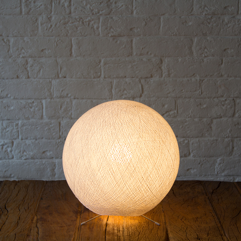 Хлопковый светильник белый