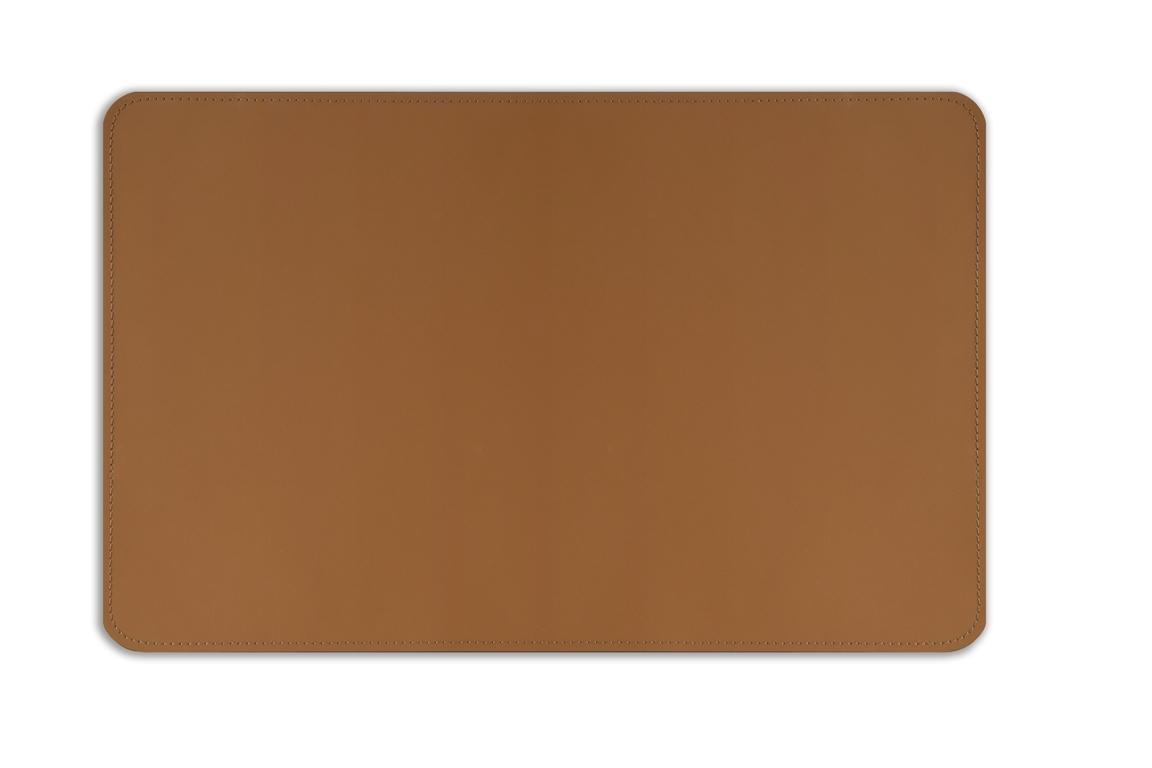 коврик на стол из кожи под орех  табак
