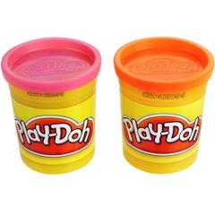 Hasbro Пластилин: 2 банки в упаковке (неоновые цвета) (23600H)