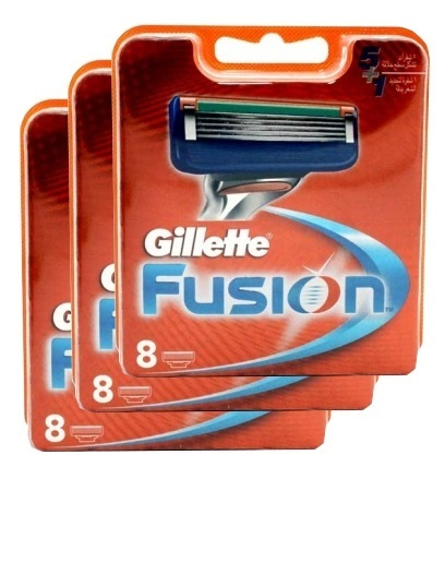 Gillette Fusion комплект (3х8) 24шт. (Цена за 1 пачку 1269р.)