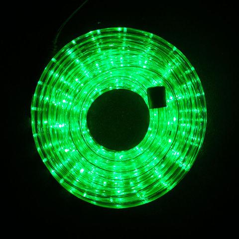 отрезок размером 10 метров зеленый цвет с контроллером и вилкой