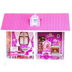 PAREMO Одноэтажный кукольный дом (2 комнаты, 1 кукла) (PPCD116)