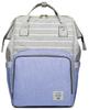 Сумка-рюкзак для Мам арт: 2106 Полоска + Голубой