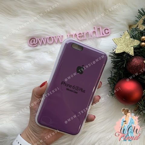 Чехол iPhone 6+/6s+ Silicone Case /purple/ баклажан 1:1