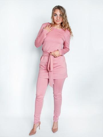 Брючный костюм розовый