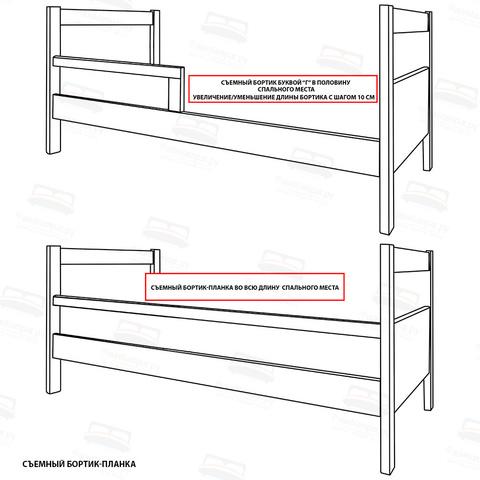 Кровать с тремя спинками и основанием Шале